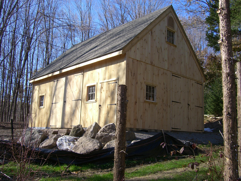 20' x 24' Post and Beam Barn