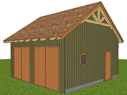 20 x 20' Simple Post & Beam Barn