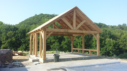20' x 18' Timber Frame Pool Cabana