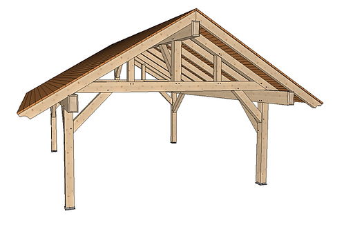 18' x 20' Mortise and Tenon Pavilion