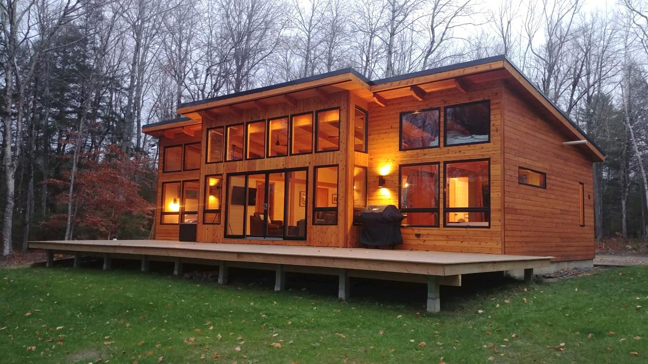 Timber Frame Lake Cabin
