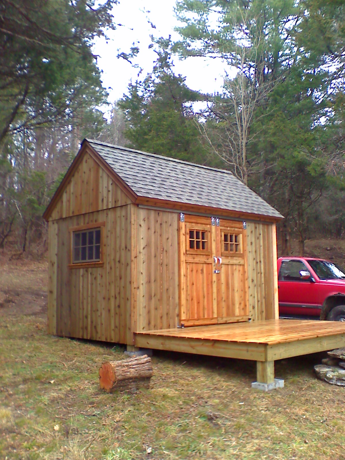 8' x 12' Timber Frame Easy Shed