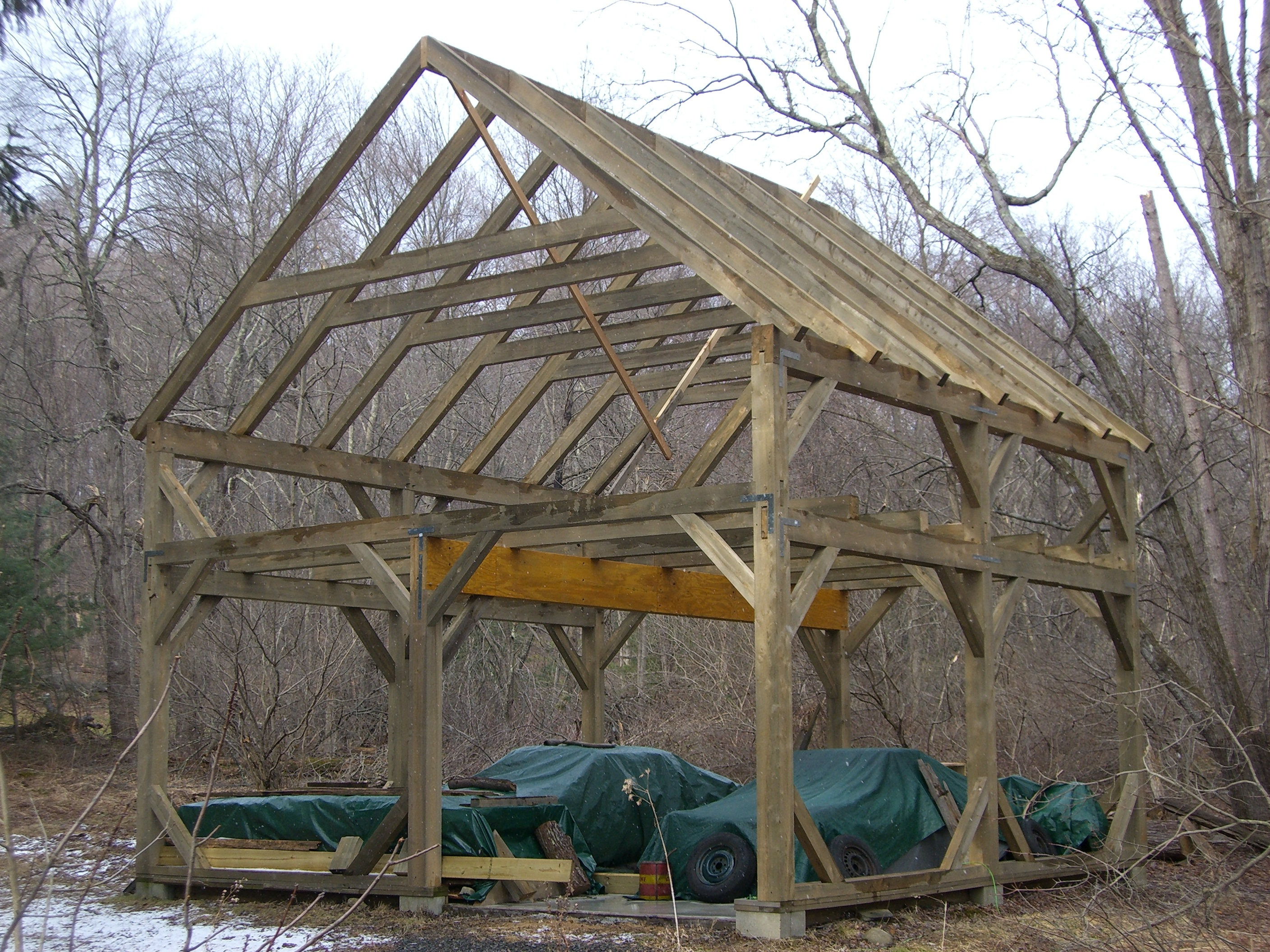 24' x 24' Timber Frame Barn