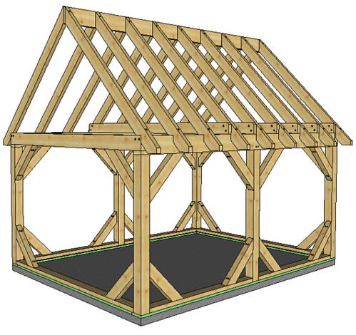 Pre Cut Timber Frame: 12' X 16' Frame