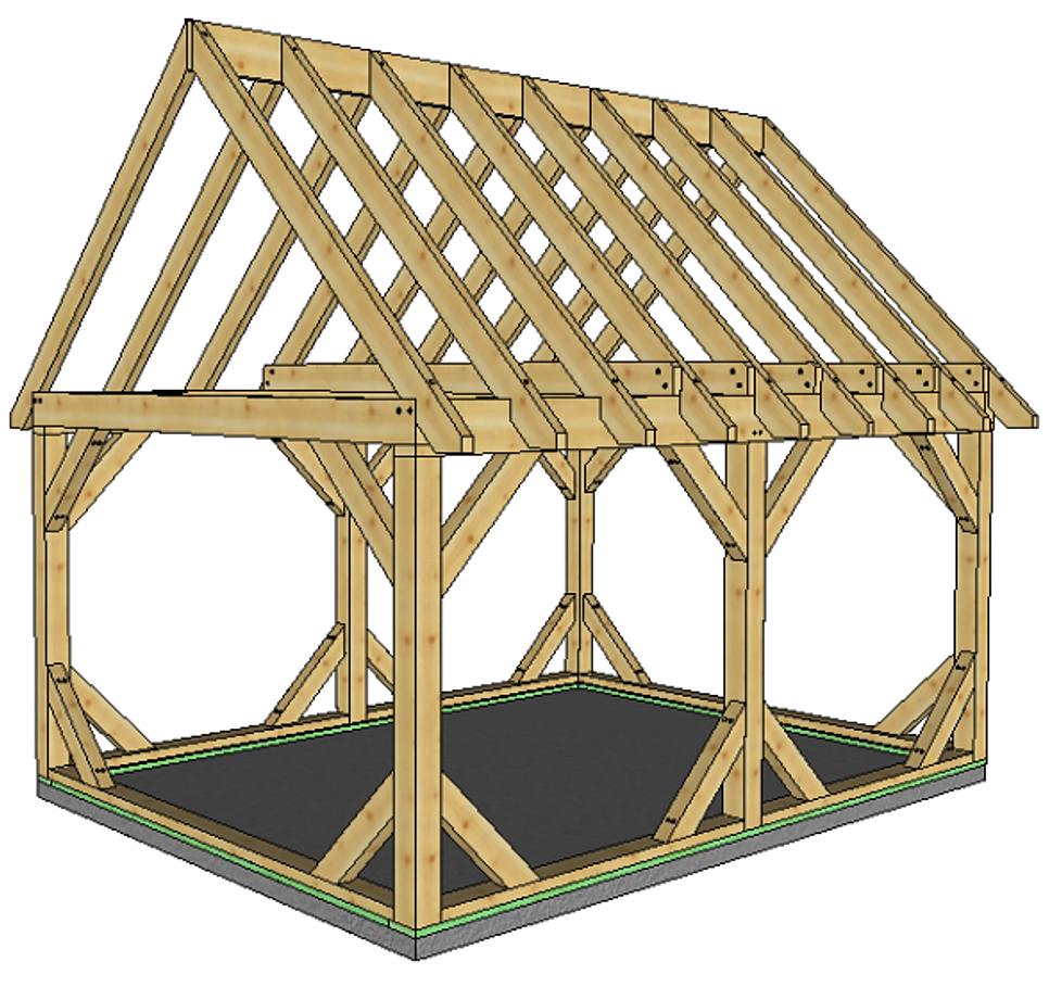 Pre Cut Timber Frame: Stock Timber Frames And Finished Products