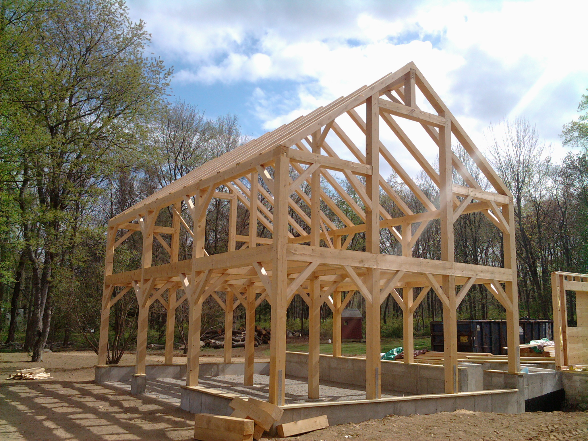 24' x 32' Timber Frame Barn Frame