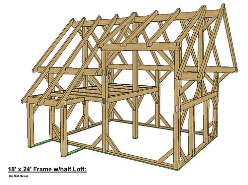 18' x 24' Cabin Frame