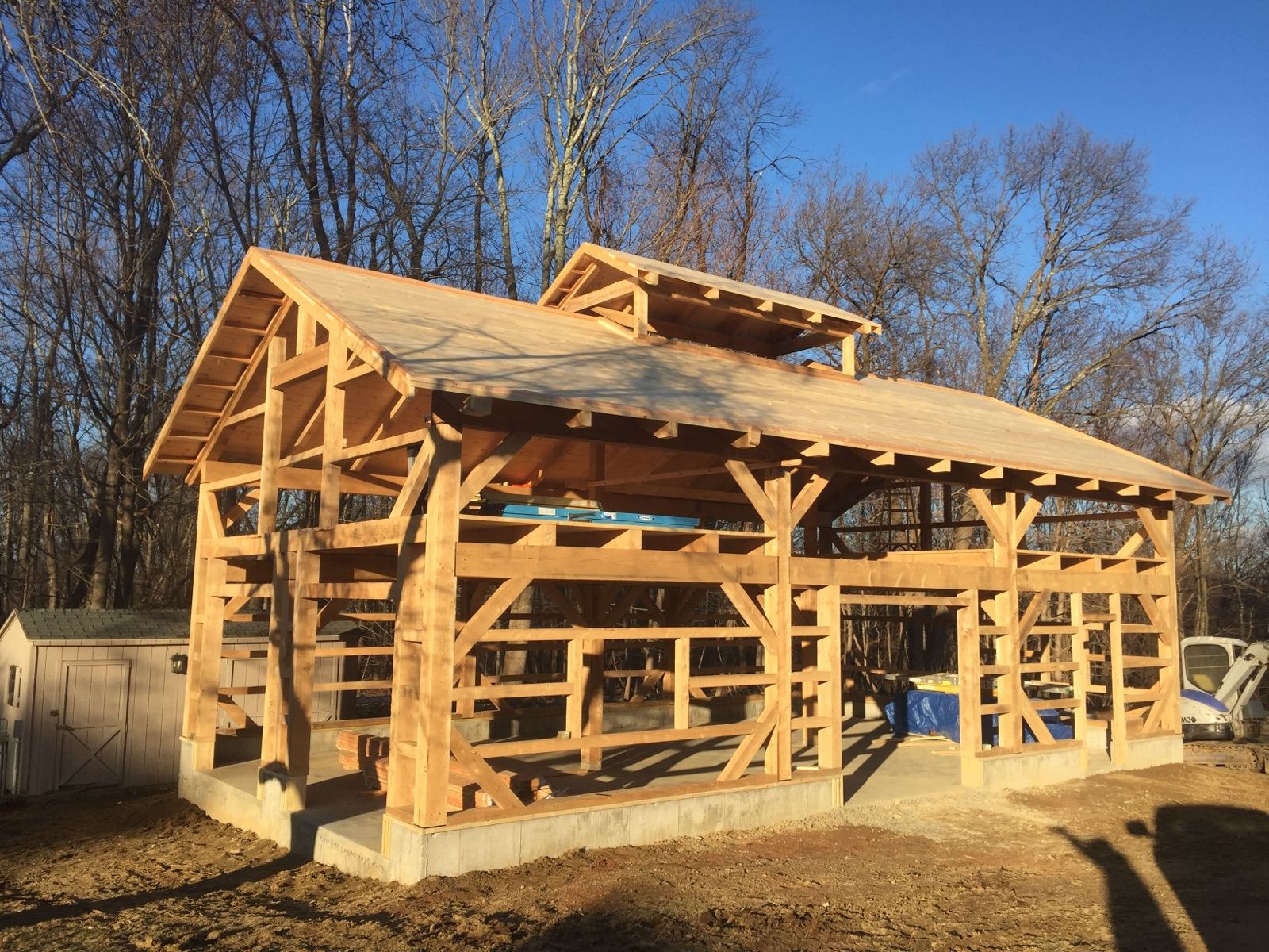 24' x 42' Timber Frame Garage
