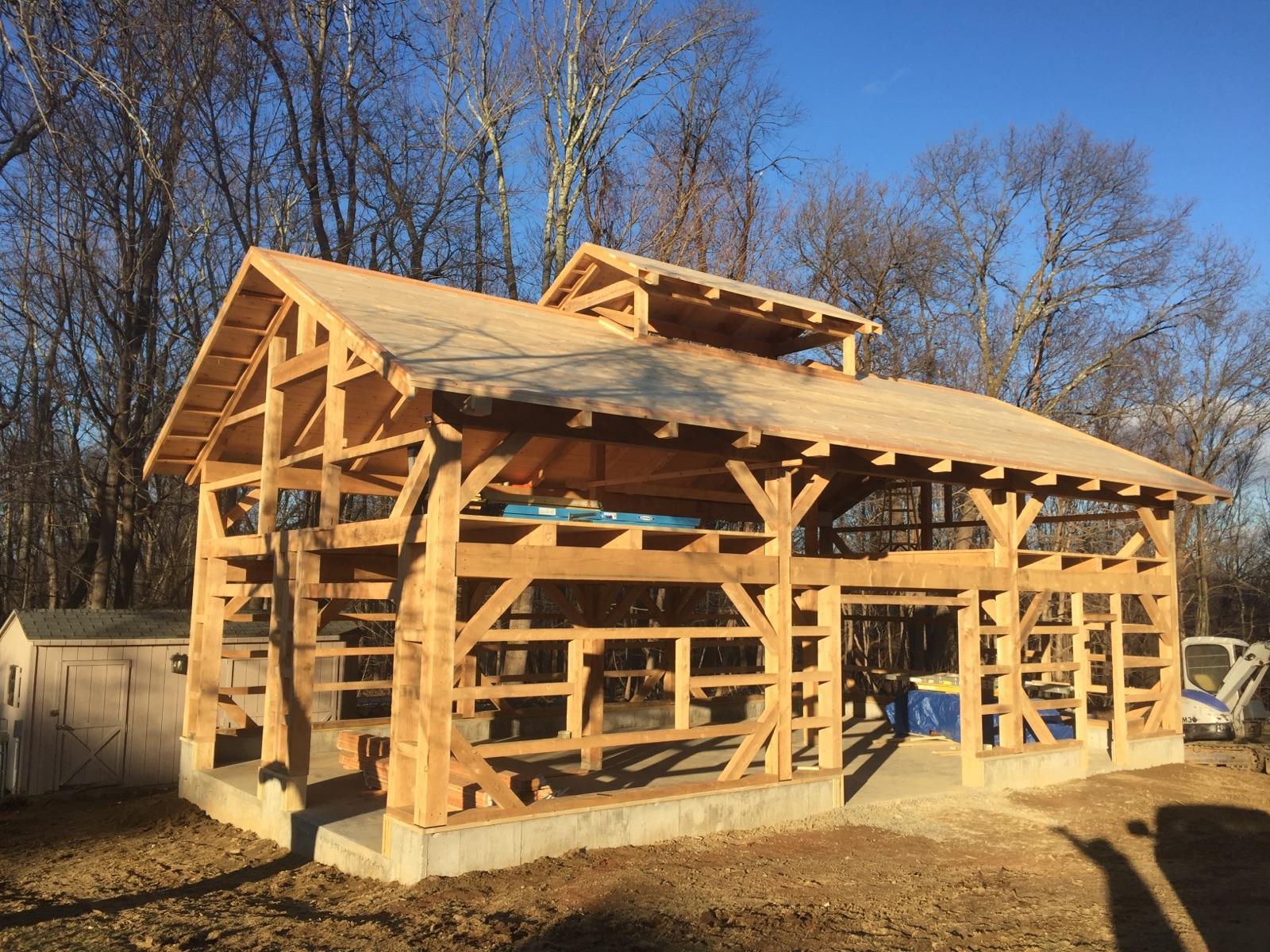 24' x 42' Timber Frame Garage