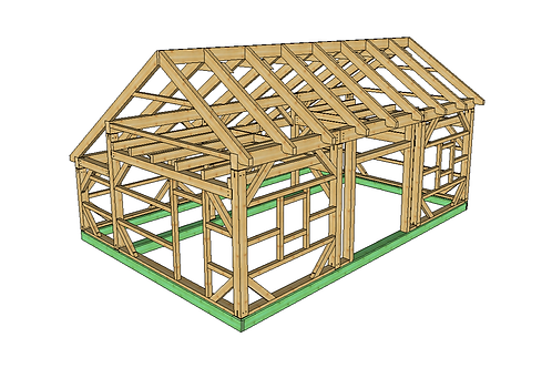 22' x 32' T-REX Saltbox Barn