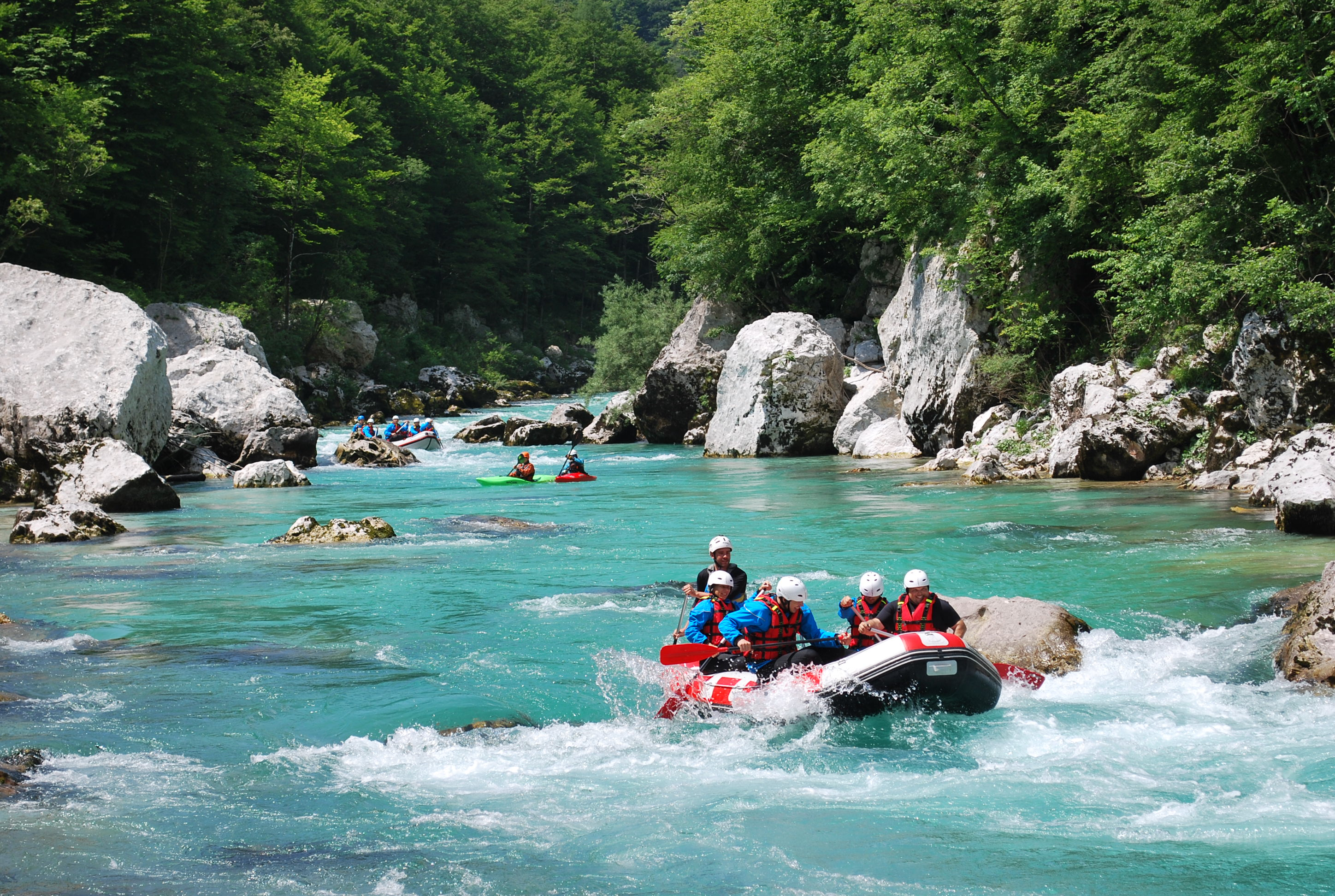Explore Slovenia Adventure Canyoning Rafting