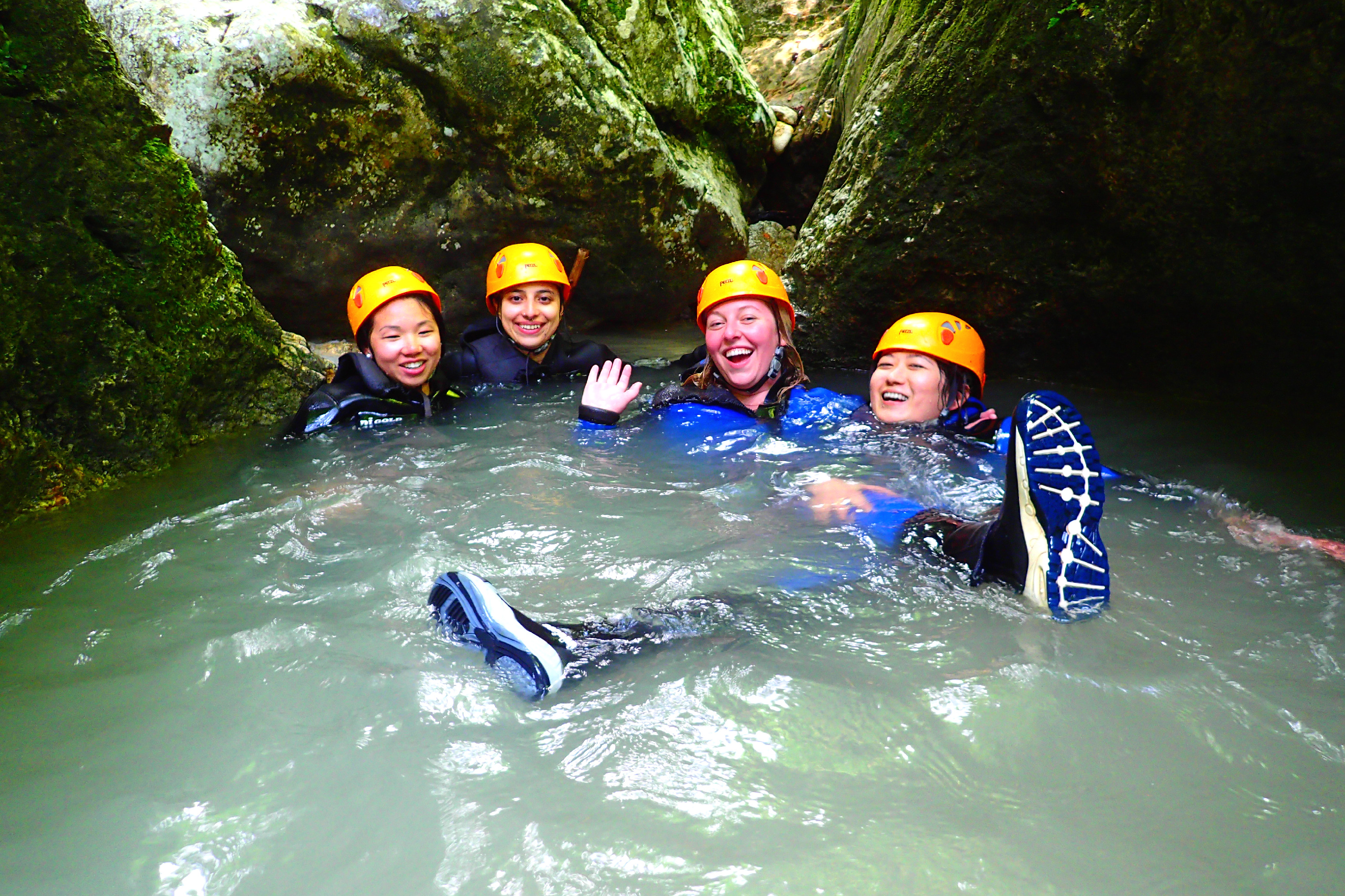 Adventure day 1 Bled canyoning rafting