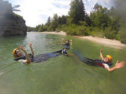 River surfing on Sava river rafting Bled