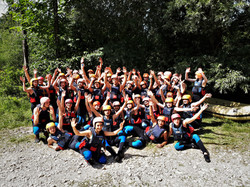 Group Bled rafting on Sava Dolinka