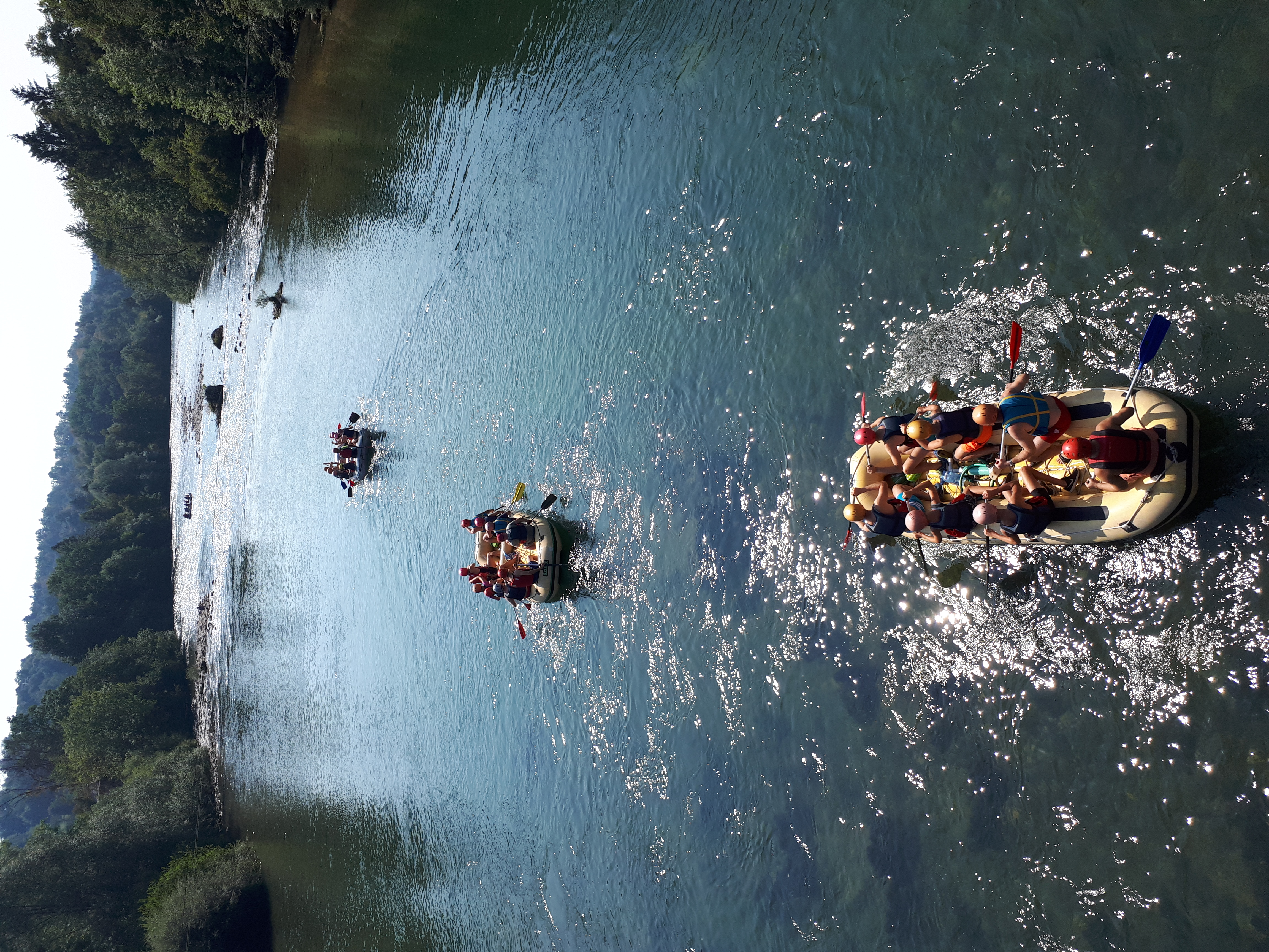 Rafts on the river Sava Bled rafting