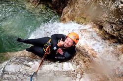 Extreme canyoning Slovenia E