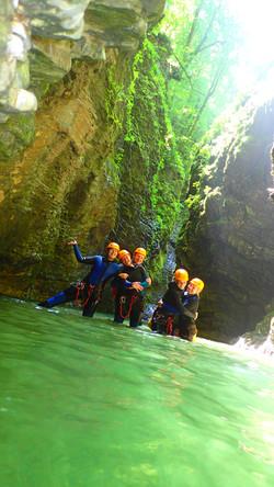 canyoning bled Kozjak extreme