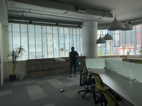 Disinfecting Office and common area