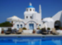 yoga retreat at aethrio, yoga in santorini, yoga retreat, yoga with a seaview, sunset yoga