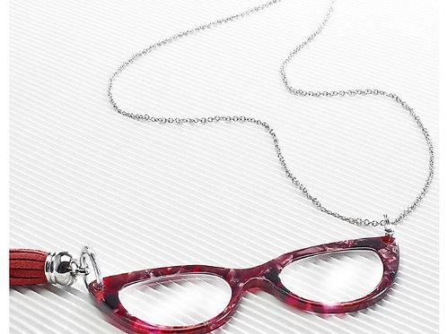 Catenella con lente ingrandimento occhiale