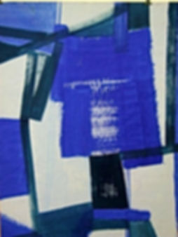 Mio Blu - 2008, tempera su carta 100 X 1