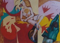 Sangue e Vaniglia olio su tela 50 x 70 1998-001