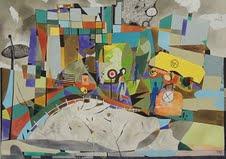 URBAN ESTERNI acquerello sau carta e china cm 50 x cm 70 1995