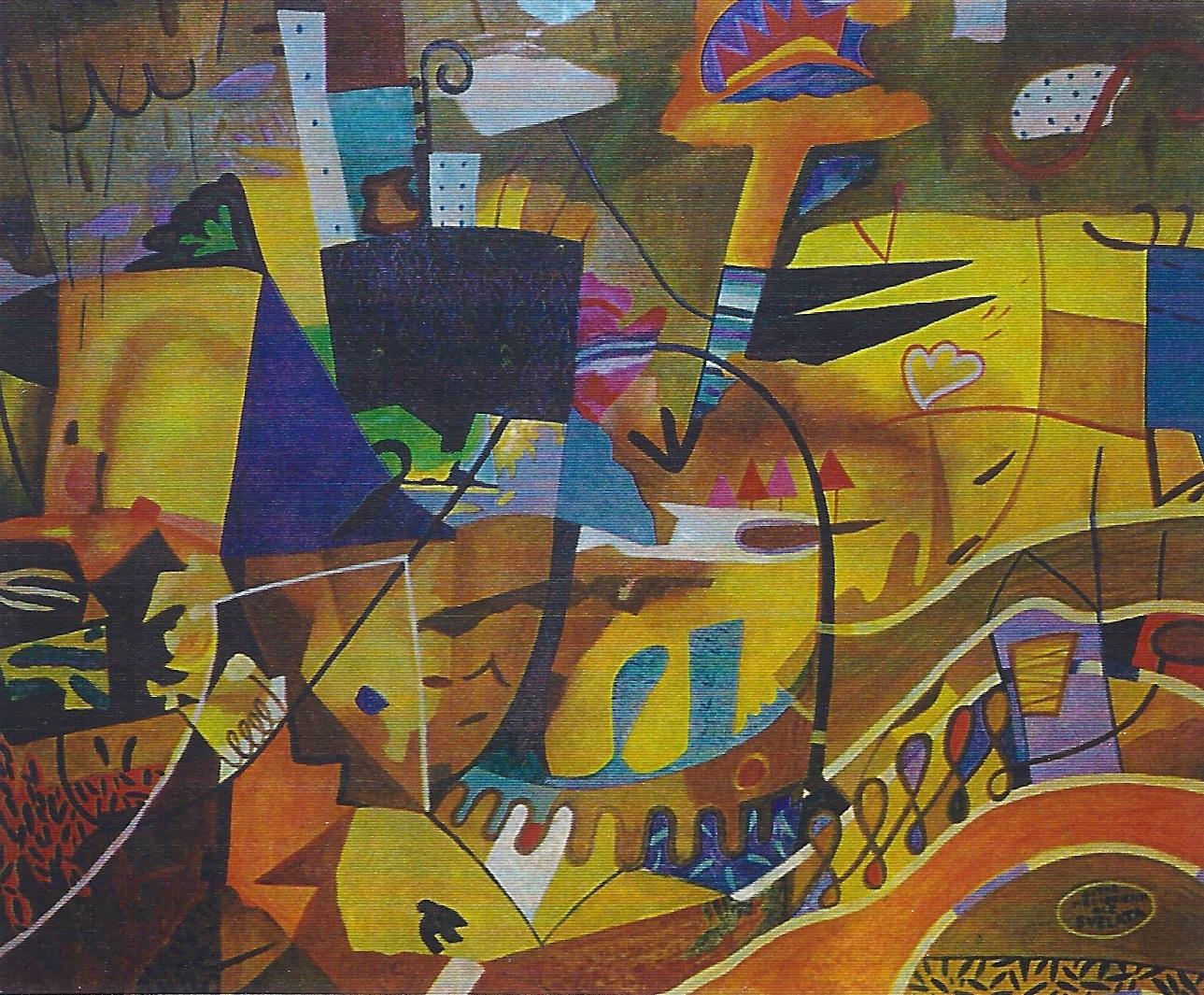 , olio su tela 70 X 80 CITTA' MEDIORENTALE1997