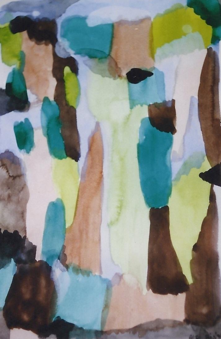 ARIA VERDE acquarello su carta cm 35 x cm 50 1997