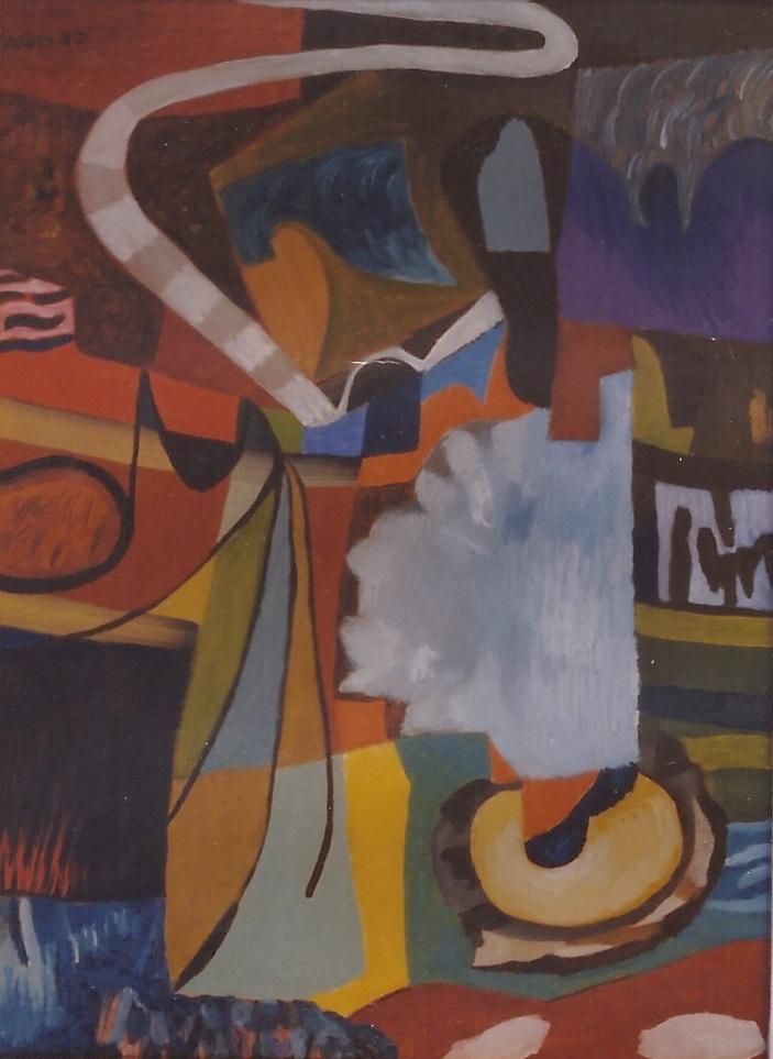 FANTASIA URBANA tecnica mista su carta cm 35x cm 50 1998
