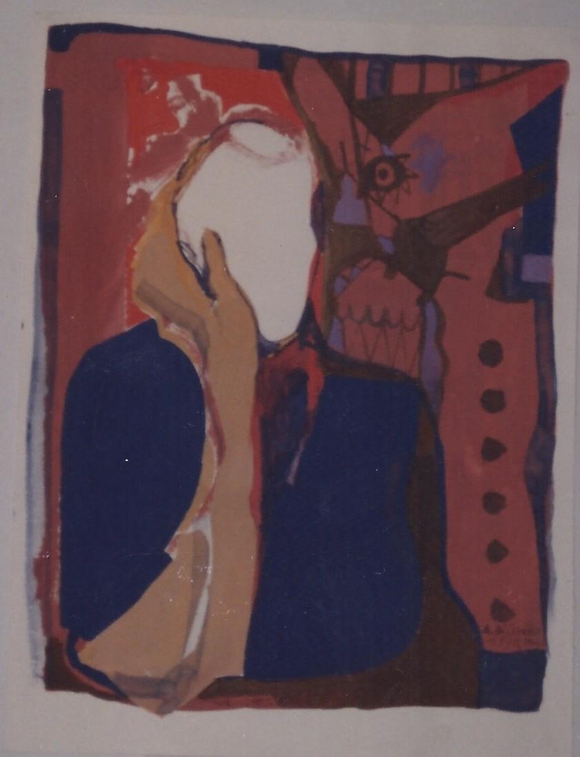 UMILIATO E OFFESO tempera su carta cm 20 x cm 30 1996-001
