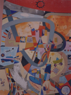 URBANICA PRIMA tecnica mista pittura su carta cm 70 x cm 100 1998