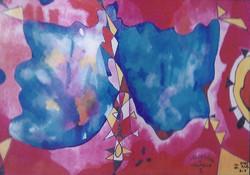 FARFALLALE 1 tecnica mista su carta cm 15 x cm 30 1999-002