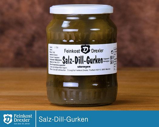 Salzgurken eingelegt mit Dill - pro Glas
