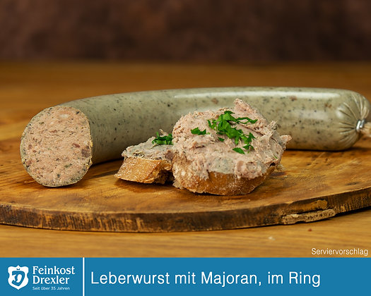Leberwurst mit Majoran im Ring