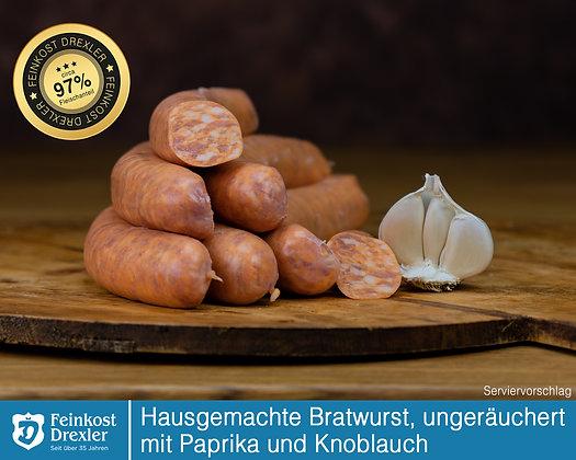 Hausg. Bratwurst - ungeräuchert m. Paprika u. Knoblauch