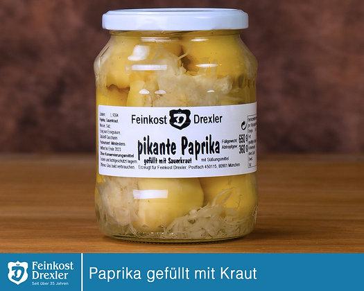 Paprika - gefüllt mit Kraut   im Glas
