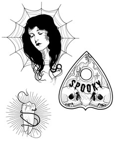 Spooky Flash - Black Widow / Planchette / Tooth