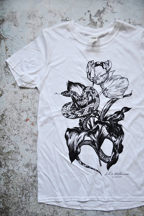 Snake and Tulip Unisex T-shirt