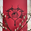 Thumbnail: Filigree Valentine Lino Print (Red & Black)