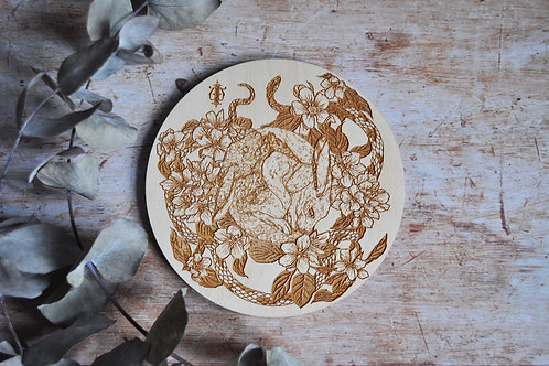 Birch Wood Hare Plaque