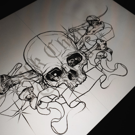Skull and Crossbone Sternum