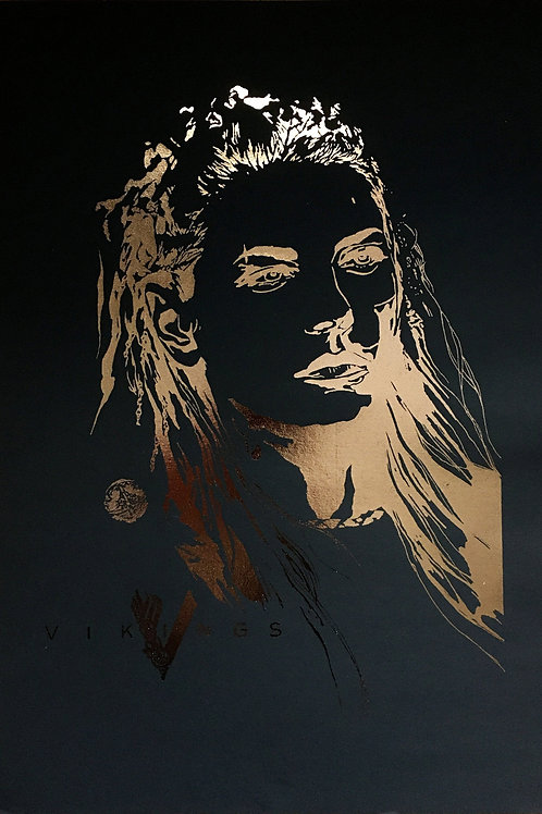 Vikings Lagertha Portrait Print