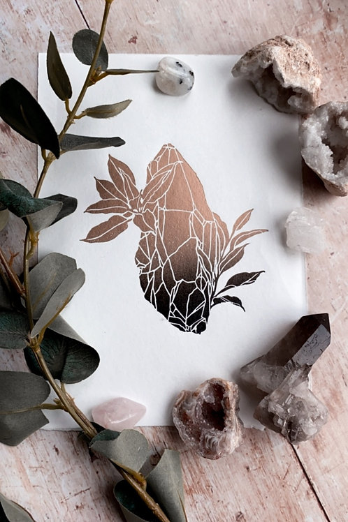 Crystal Lino Print (Gold & Black)