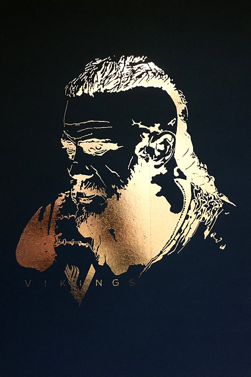 Vikings Ragnar Portrait Print
