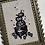 Thumbnail: Pumpkin Patch Vintage Framed Cross Stitch