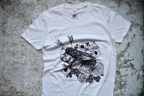 Falcon and Flowers Unisex T-shirt