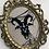 Thumbnail: Baphomet Vintage Framed Cross Stitch