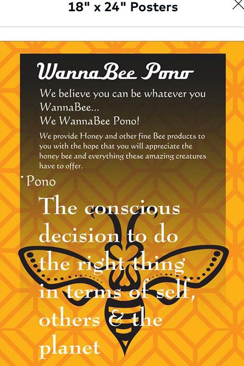 WannaBee Pono Poster
