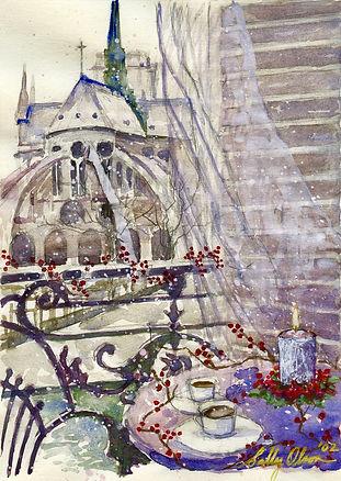 SallyOlson_NotreDamedeParis_watercolor_2